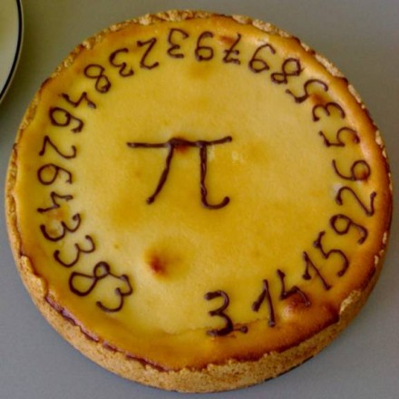 Pi pie. Nipped from geek.com, which offers an origin story of sorts.