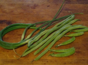 Beans and scapes