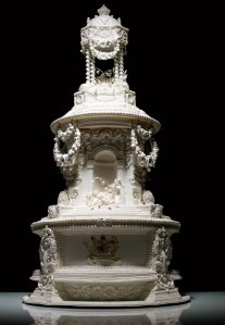 A replica of Princess Vicki's 1958 wedding cake.