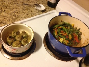 Artichokes and stir fry