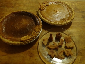 Chess and Pumpkin pies