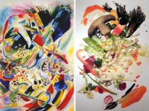 http://www.npr.org/blogs/thesalt/2014/06/25/325189711/kandinsky-on-a-plate-art-inspired-salad-just-tastes-better