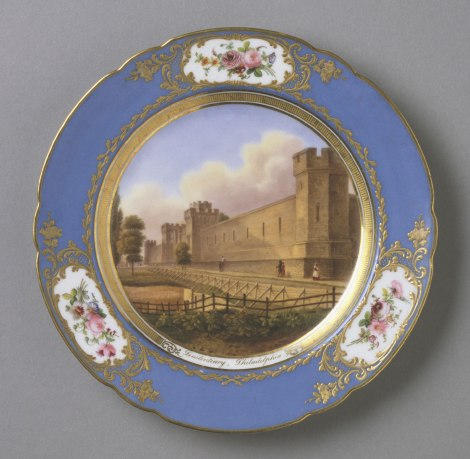 "Zoom Dessert Plate: ""Penitentiary, Philadelphia."" Via the Philadelphia Museum of Art."